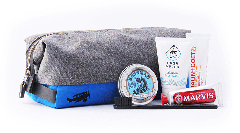 We caught up with men's grooming experts, MASC, to get great new products that every travelling gentlemen should have in his Dopp Kit.