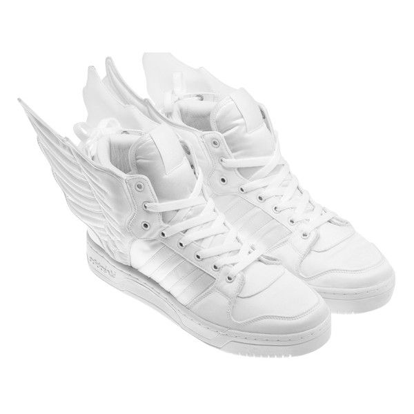 finest selection 30ae6 d74e3 2NE1 x adidas Originals by Jeremy Scott JS Wings 2.0 ❤ liked on Polyvore  featuring shoes, sneakers, adidas, wing shoes and winged sneakers
