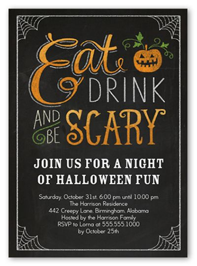 Halloween Party Rsvp Wordings