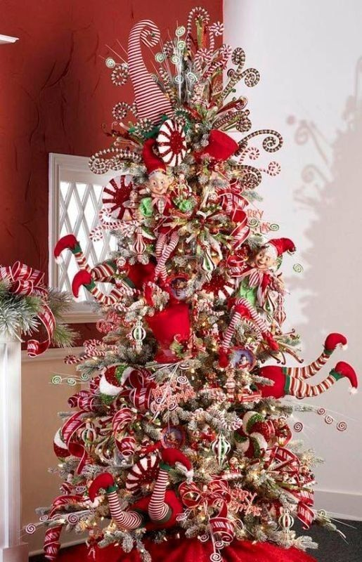 96+ Fabulous Christmas Tree Decoration Ideas 2018   Christmas ideaa   Creative christmas trees ...
