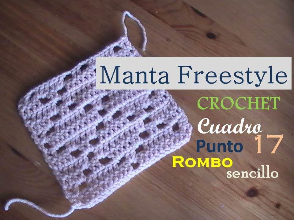 PUNTO ROMBO sencillo a crochet - cuadro 17 manta FREESTYLE (diestro ...