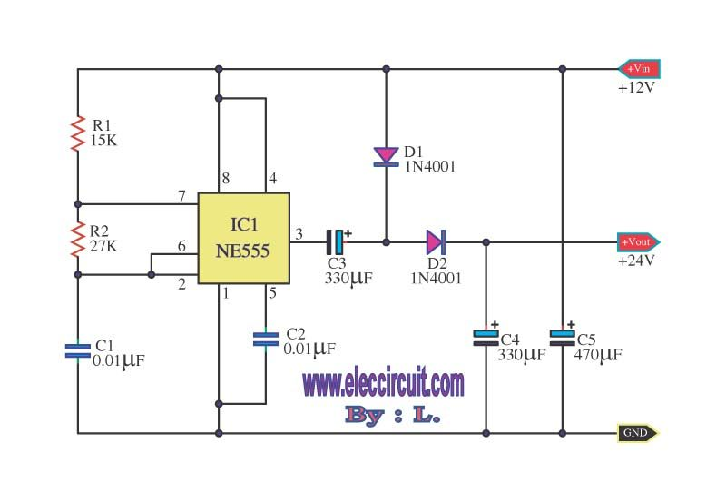 7 Ideas Of 555 Dc Boost Converter Circuits Diagram Electronic Schematics Converter Circuit