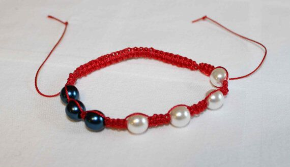 A personal favorite from my Etsy shop https://www.etsy.com/listing/280527398/red-white-and-blue-shamballa-bracelet