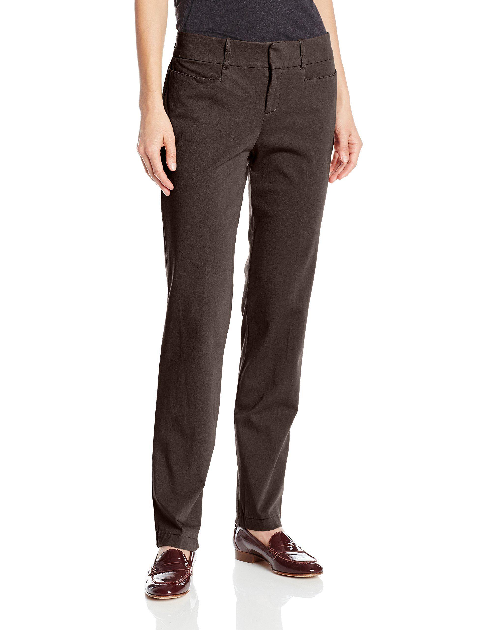 Dockers Women's Ideal Straight Leg Trouser Pant, Black