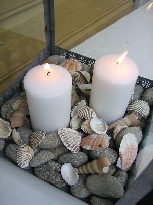 Grey Beach Stones Mixed With Found Weathered Seashells   So Beachy!  Muscheln, Strand Deko