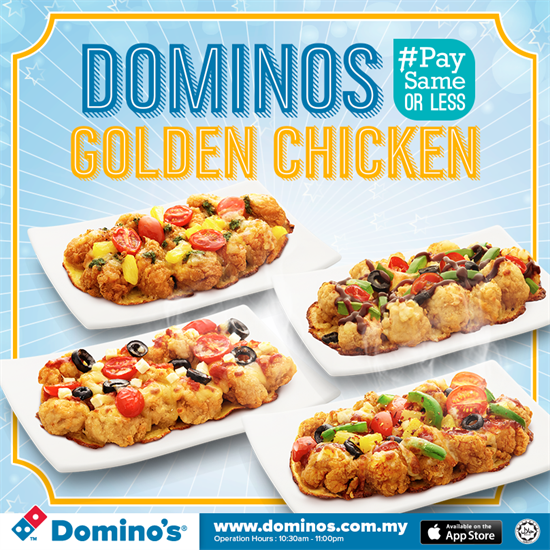 Domino S Golden Chicken Promotion In Malaysia Golden Chicken Chicken Menu Chicken