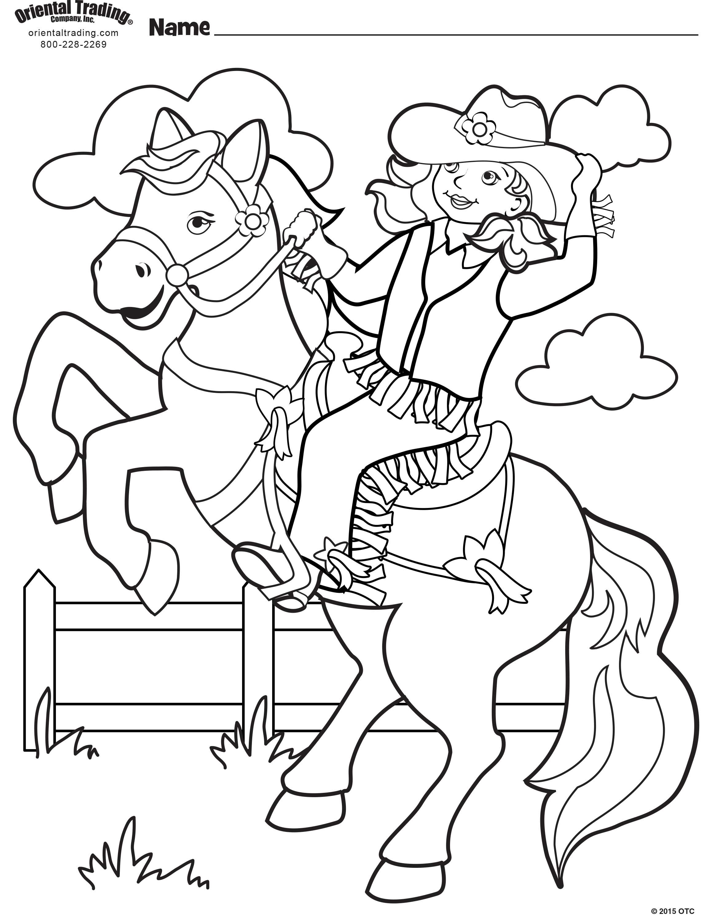 Cowgirl Coloring Page Coloring Pages