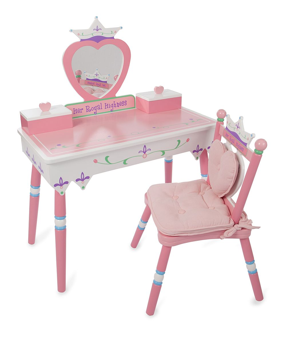 Levels Of Discovery Her Royal Highness Vanity Amp Chair Set