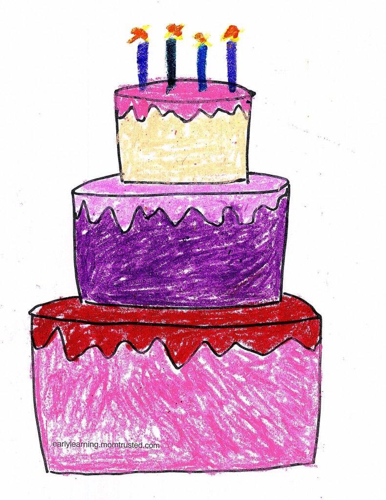 Birthday Cake Printable Coloring Page