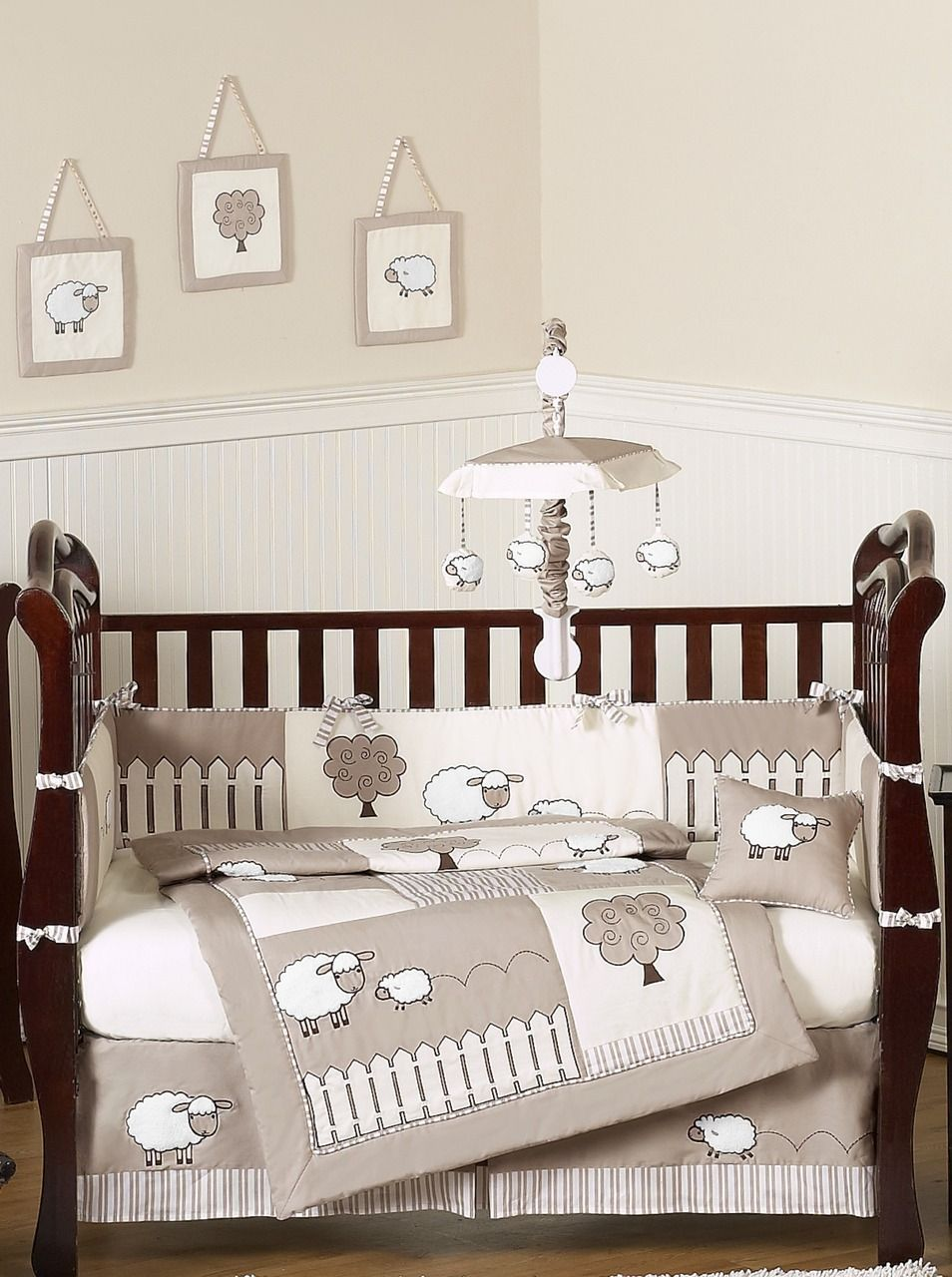 Little Lamb Baby Bedding 9pc Neutral Crib Set By Sweet Jojo Designs Baby Bedding Sets Nursery Bedding Sets Lamb Nursery