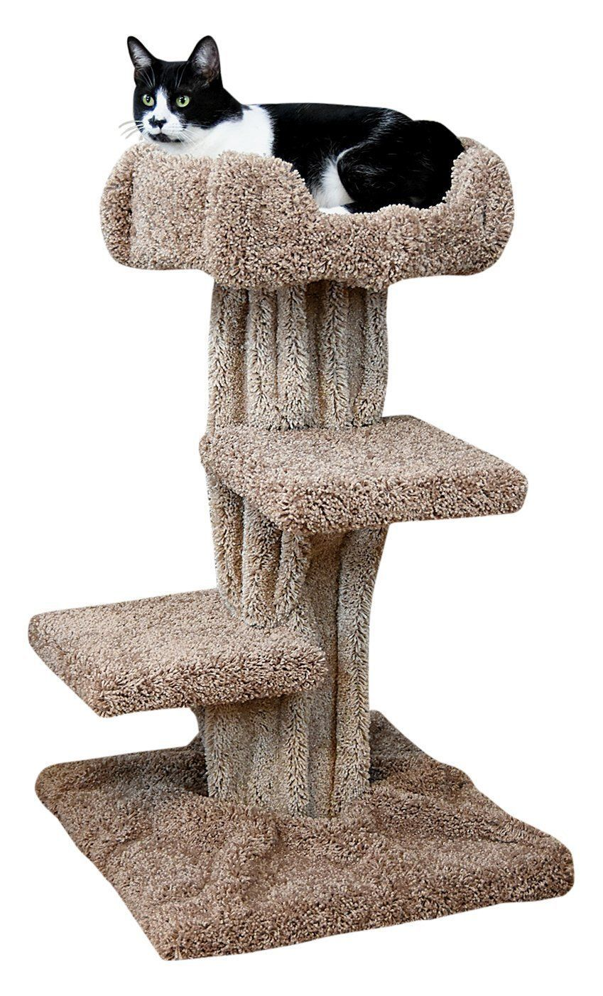 Cheap Solid Wood Carpeted Cat Tree Cool Cat Tree Plans Cat Tree Plans Cool Cat Trees Large Cat Tree Cat perches for large cats