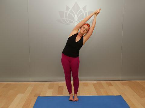 standing crescent pose indudalasana standing yoga poses