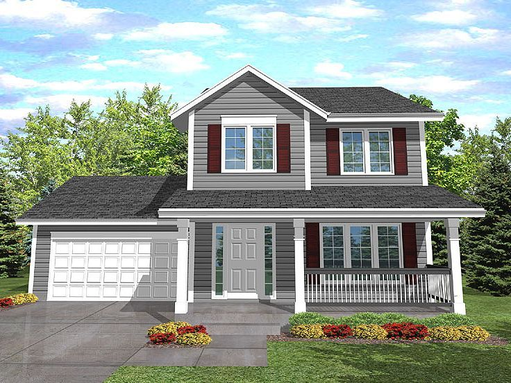 2 Story House Plan 016H 0003 Outside not floor plan Dream