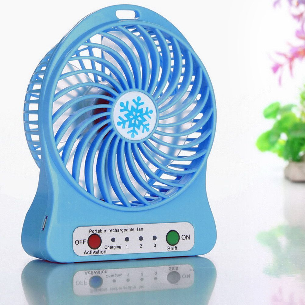 Portable Ultra Quiet Mini Usb Desk Fan Creative Home Office Abs