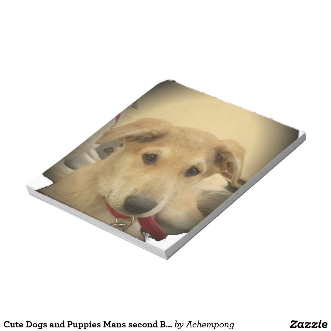 Cute dogs and puppies mans second best friendg notepad
