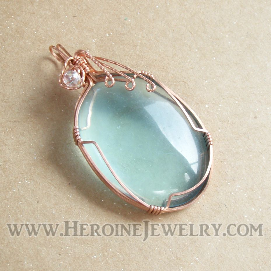 wire wrapping pendants | ... Wire Wrap Cabs + more | Simple Jewelry ...