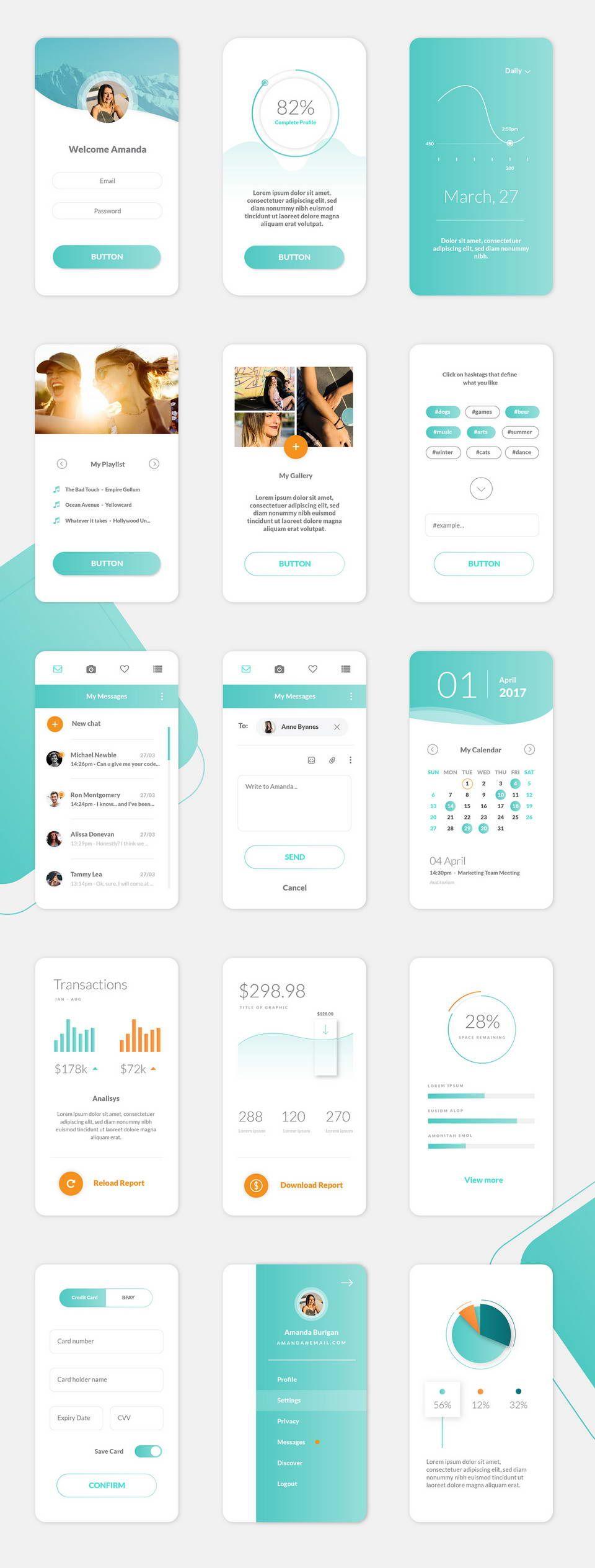 Random Free UI Kit AI #ui #uidesign #uxdesign #UX #design #designinspiration #creative #layout #designthinking #henixweb