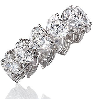Heart Shaped Diamonds Eternity Ring I Know I Don T Want Anymore Jewelry But Eternity Ring Diamond Wedding Diamond Wedding Bands Heart Shaped Diamond Ring