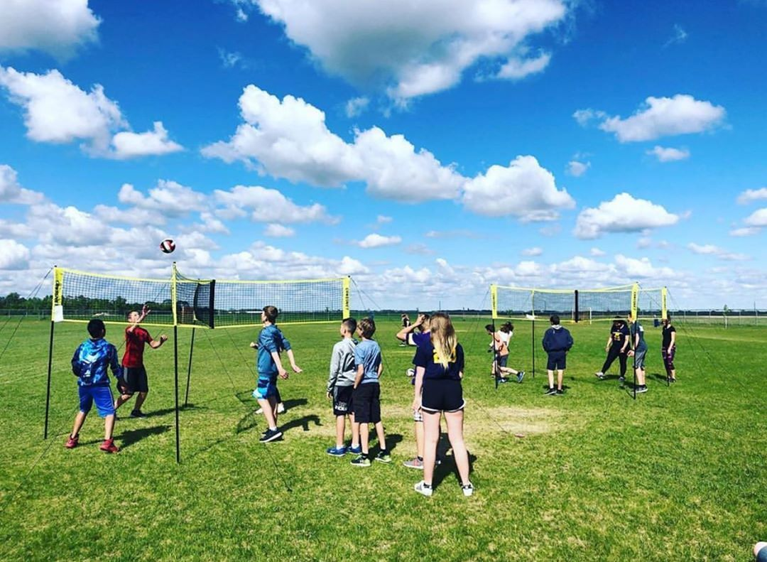 If Your School Is Looking For A New Activity Send An Email To Info Crossnetgame Com For Educational Prices Soccer Field Volleyball Games Education