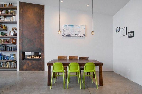 Les chambres Maison de SAOTA acier corten Idées Intérieur Cheminée ...