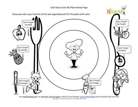 help kids begin to associate colorful foods with the foods