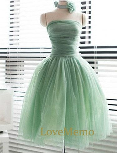Mint grün kurze Brautjungfer/Prom/Partei/Abendkleid von LoveMemo ...