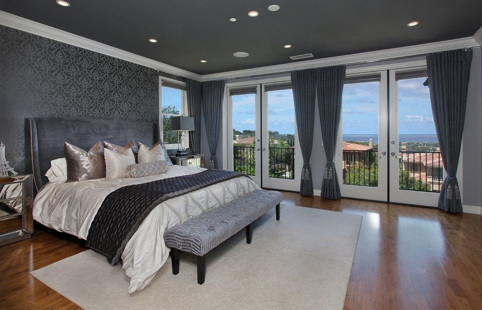 foxy candice olson master bedroom decorating ideas in bedroom contemporary design ideas with foxy balcony deck end of bed bench french doors gray curtains