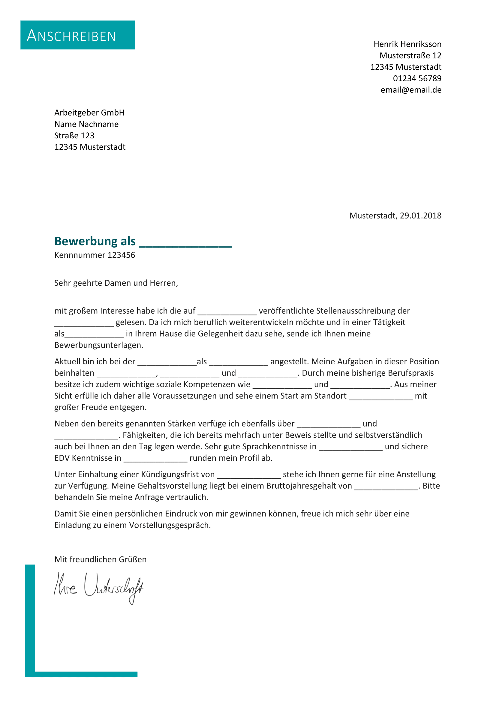 Briefprobe Briefformat Briefvorlage Bewerbung Schreiben Vorlage Bewerbung Bewerbung Anschreiben Muster