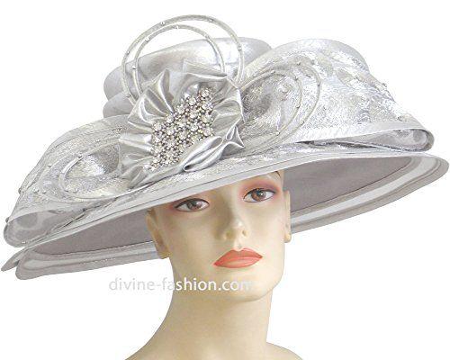62fc0bedc9886 Ms. Divine Collection Womens Wide Brim Church Hat