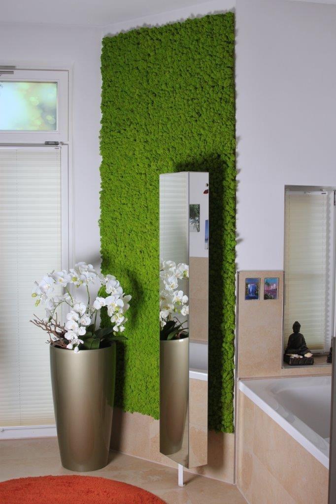 mooswand im badezimmer - element green leipzig | ohne moos nix los, Innedesign