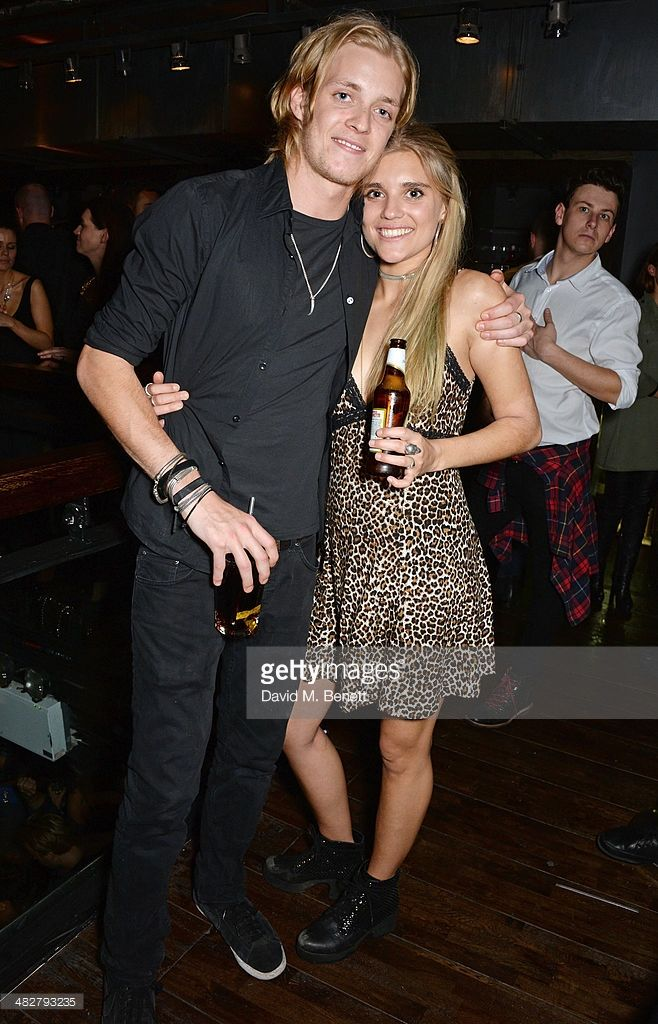 Rufus Taylor (L) and Tigerlily Taylor attend the launch of MODE in Notting  Hill on April 2014 in London, England.