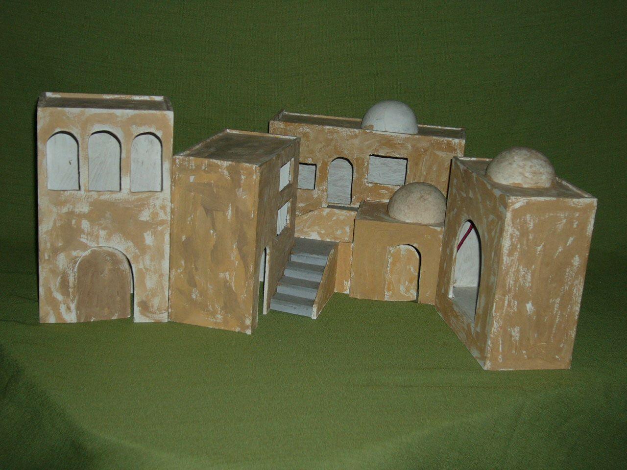 Manualidades Y Navidad Casas Tipo Hebreo Para Belenes Belenes Casas Para Belenes Decoracion Navidad Manualidades