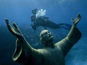 Sous l'eau ..