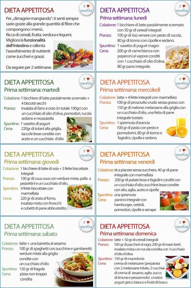 menù dietetici per dimagrire