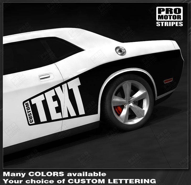 Dodge Challenger 2008 2019 Side Cuda Billboard Stripes Dodge Challenger Challenger Dodge Challenger Models