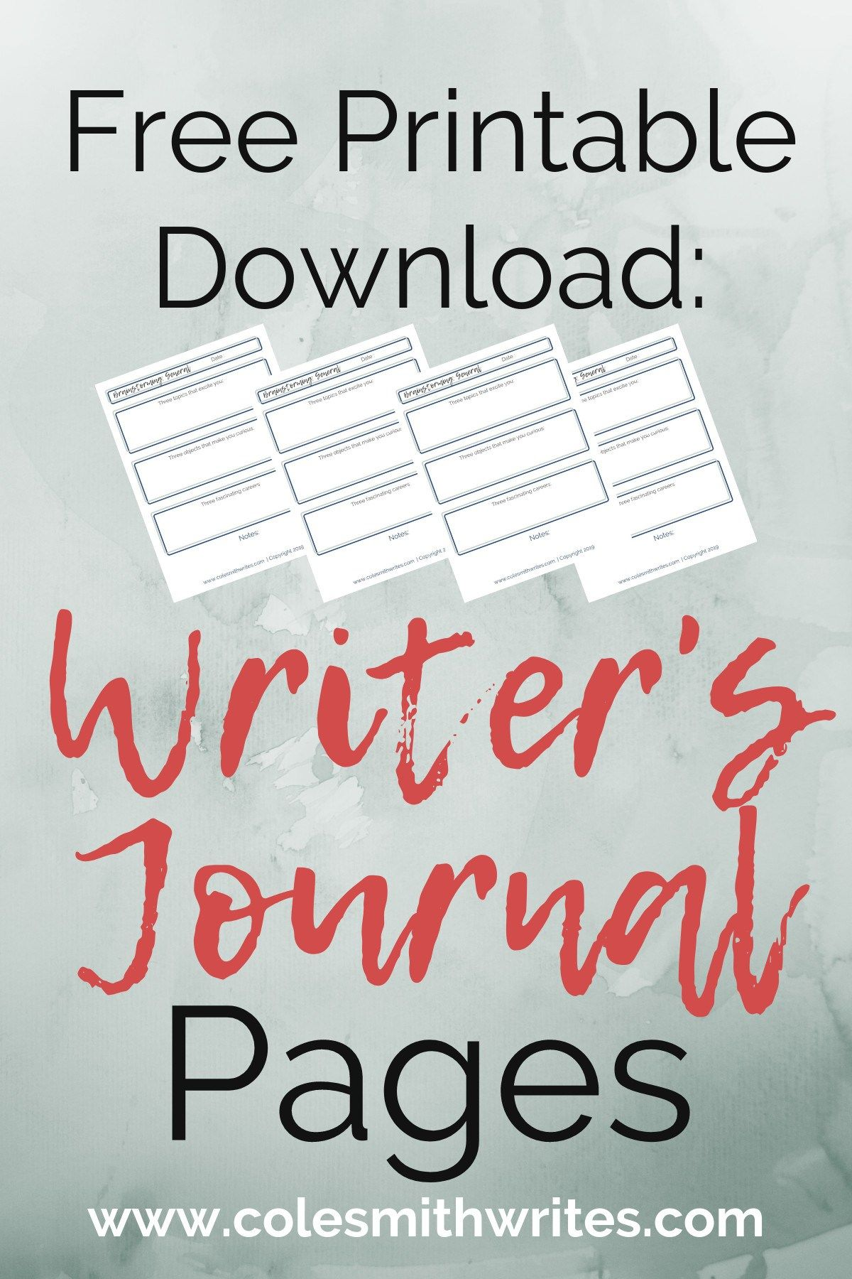 Free Download Printable Writer S Journal Pages