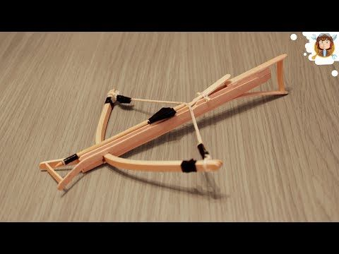 How To Make A Mini Crossbow Youtube With Images Crossbow