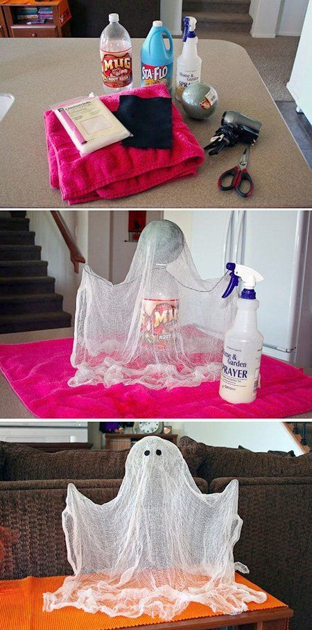 Decoraci n para halloween casera manualidad fantasma - Decoracion fiesta ibicenca casera ...