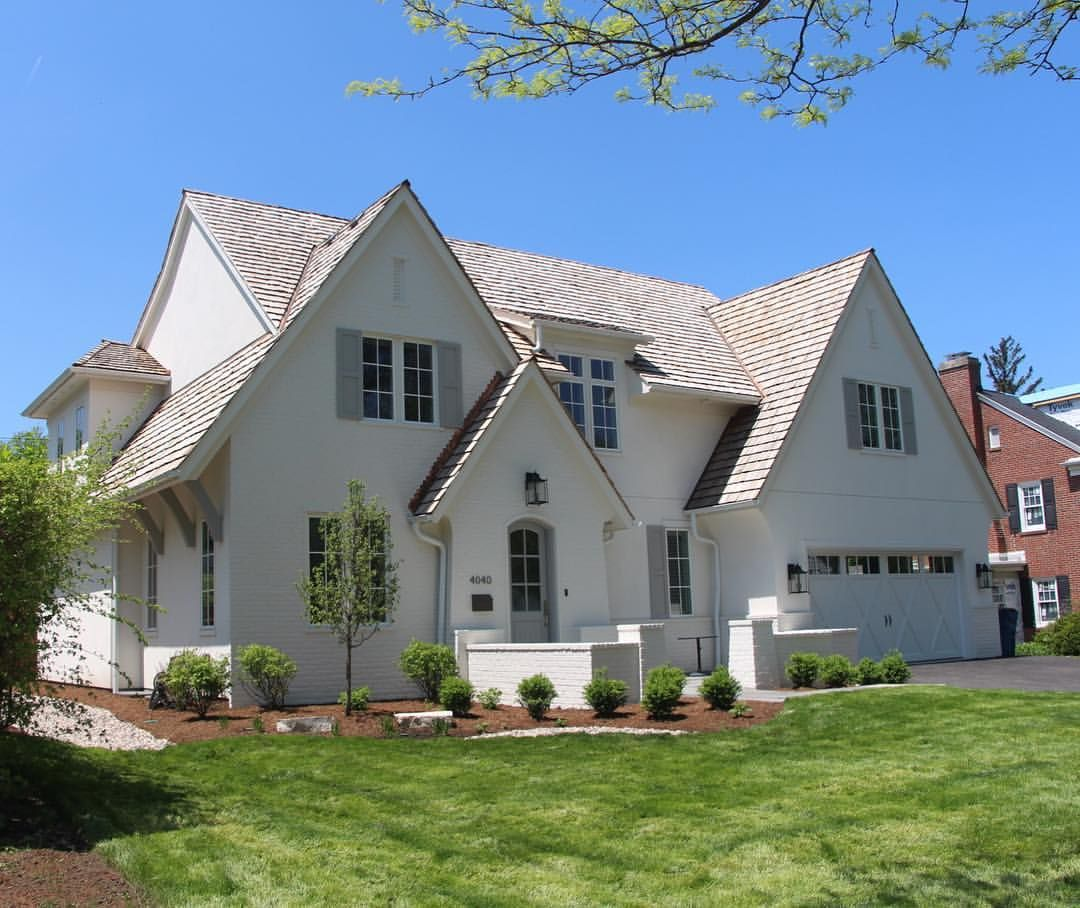 Best White Painted Brick White Stucco Cedar Roof And Copper 640 x 480