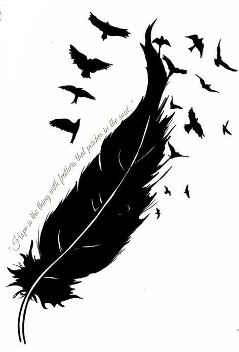 Pin By Stephanie Thornton On Tattoo Ideas Bird Design Tattoo Feather Tattoos Feather With Birds Tattoo