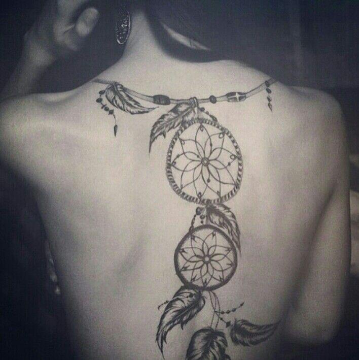 I love it | Weibliche rücken tattoos, Traumfänger tattoos