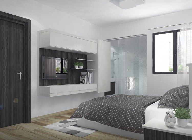 Hdb Resale 3 Room Jurong East Hdb 3 Room Master Bed Room Design By Livinz Synthesis Interior Design Gallery Interior Design Interior
