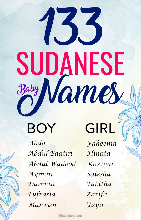 133 Most Fascinating Sudanese Names For Baby Boys And Girls Country Baby Names Irish Baby Names Baby Girl Names