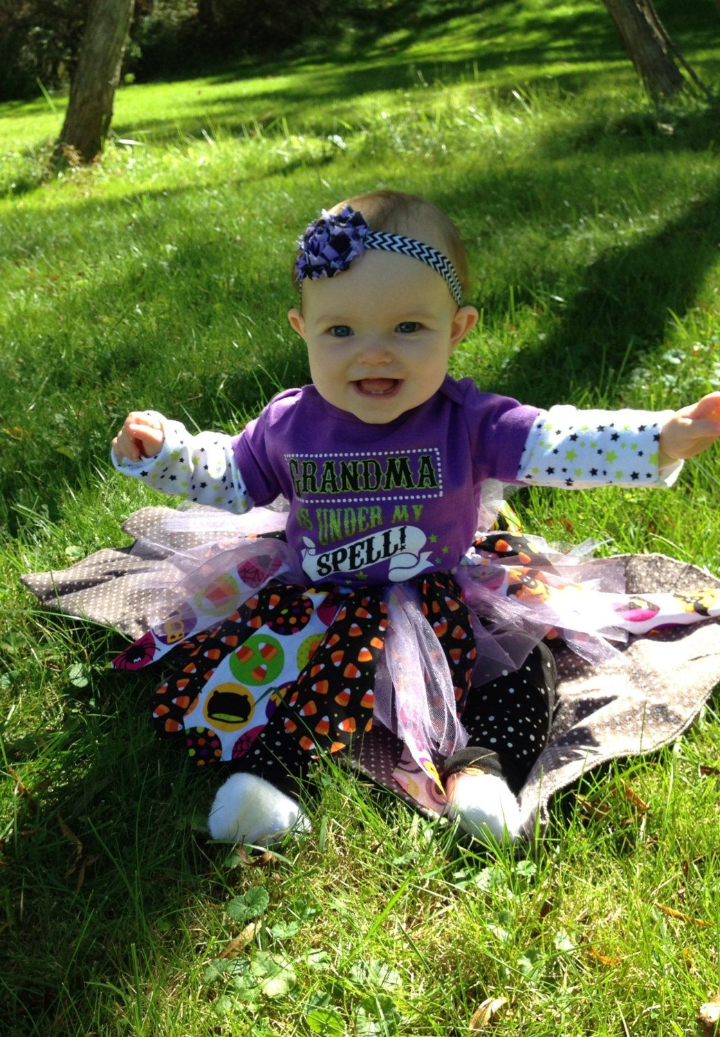 Scrap Fabric Halloween tutu for baby by IHeartMilaBowtique on Etsy ...