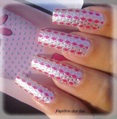 pink  silver prettynails nails nailart  bellashoot