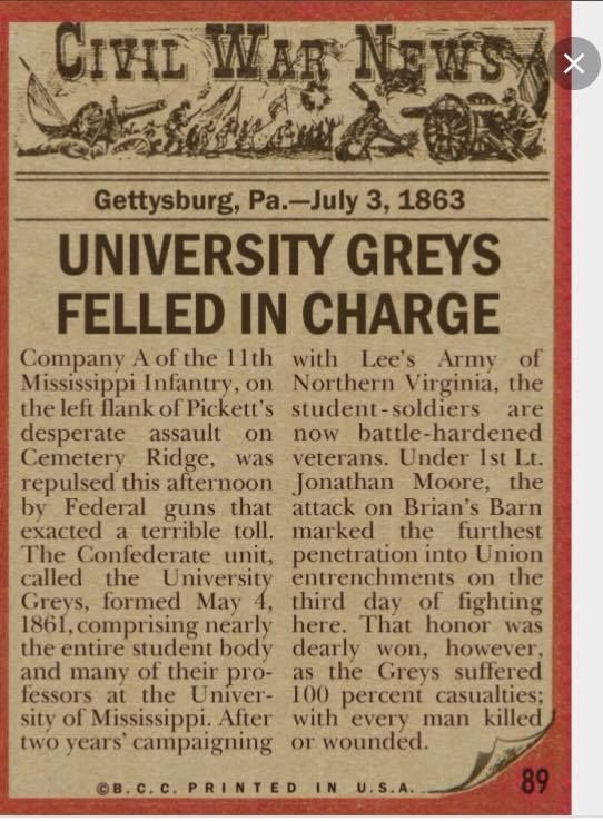 The university greys or grays were company a of the 11th the university greys or grays were company a of the mississippi infantry regiment in the confederate army during the american civil war fandeluxe Choice Image