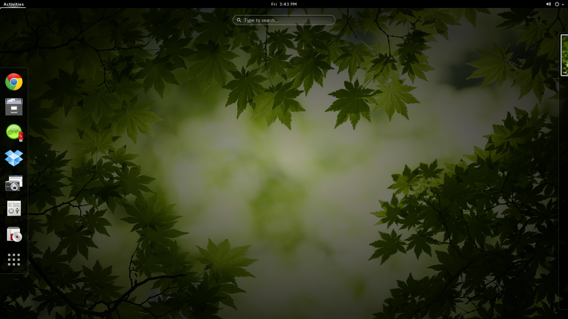 Opensuse Gnome 3 Customized Green Leaf Wallpaper Green