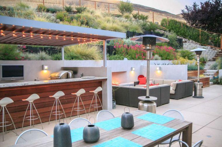 bar de jardin moderne et décoration de terrasse | אוחנה לפיד ...