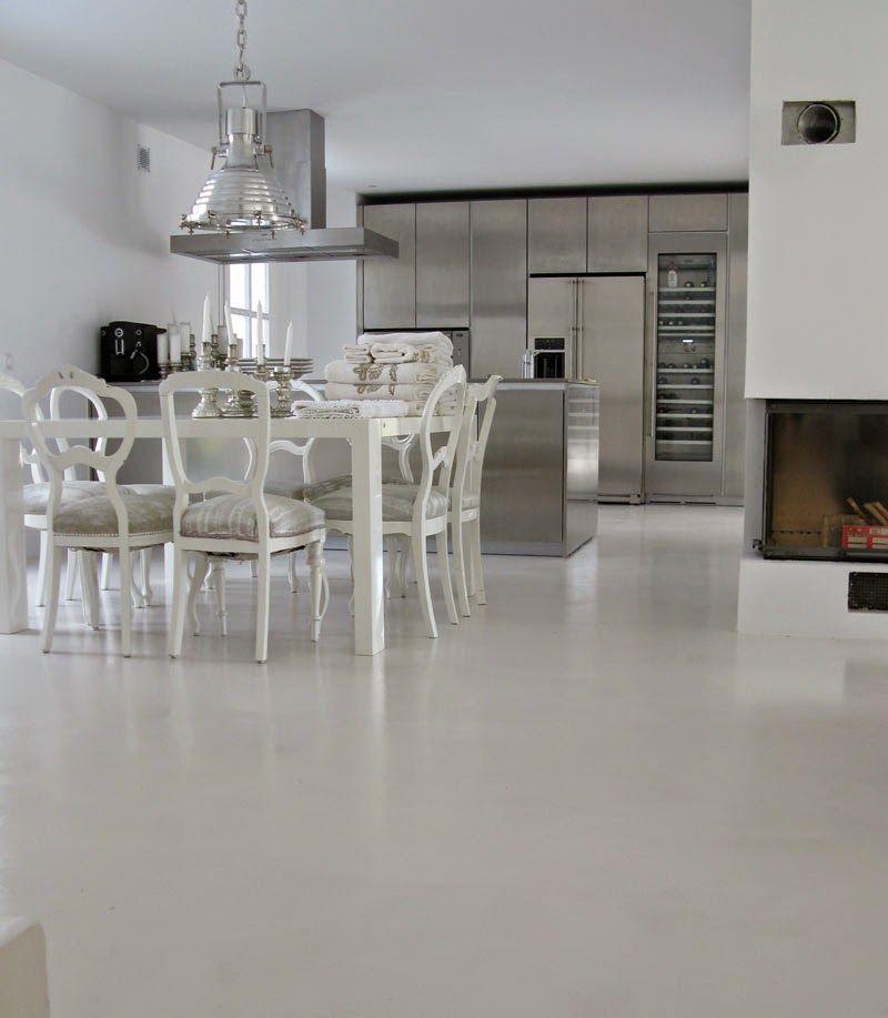 Suelo microcemento crudo decoracion interiores for Hormigon pulido blanco