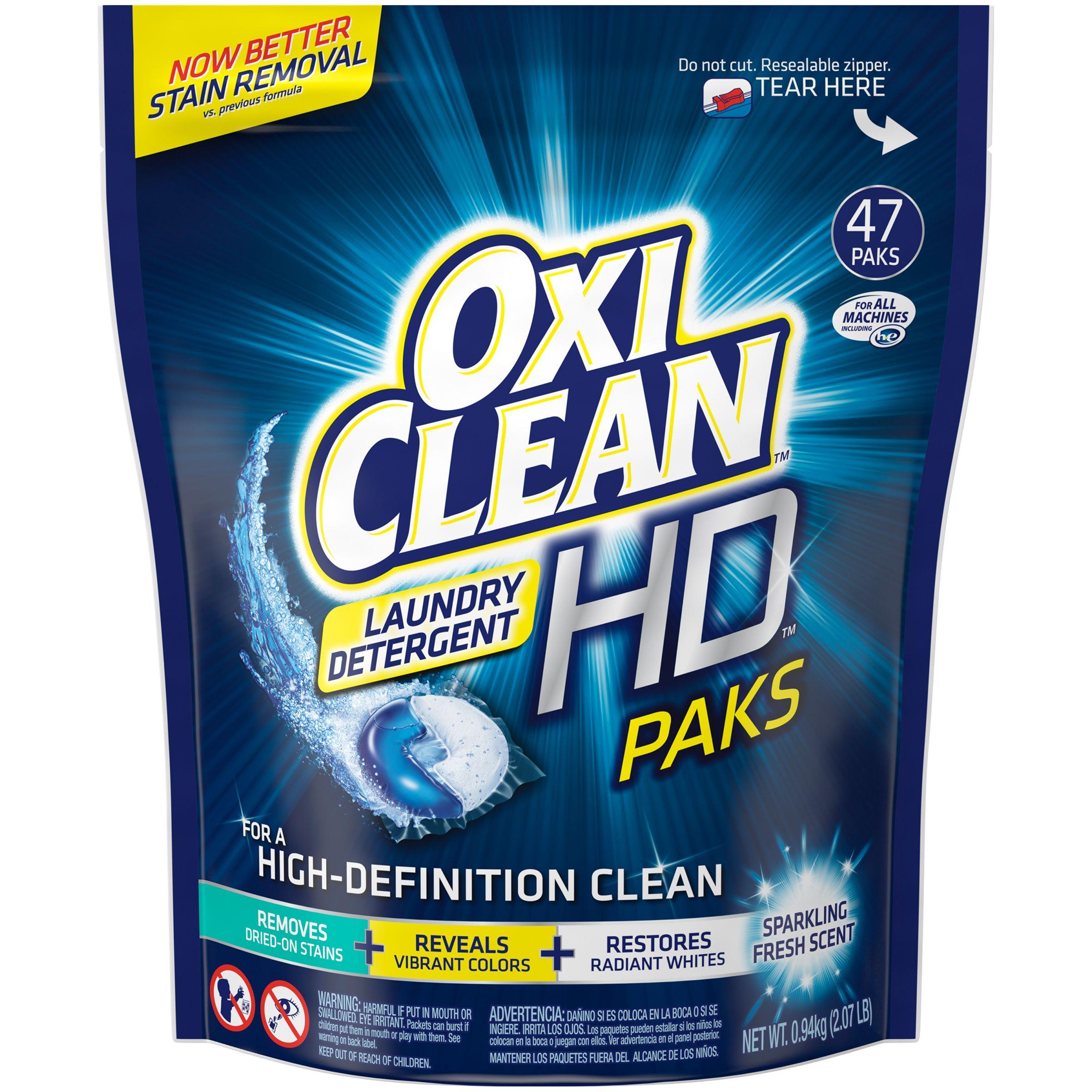 Oxi Clean Sparkling Fresh Scent Hd Paks Laundry Detergent 47 Ct